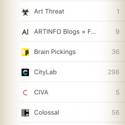 feedly creativity sources