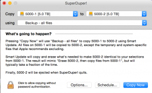 SuperDuper backup application