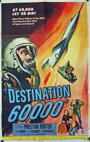 Destination 6000: vintage movie poster