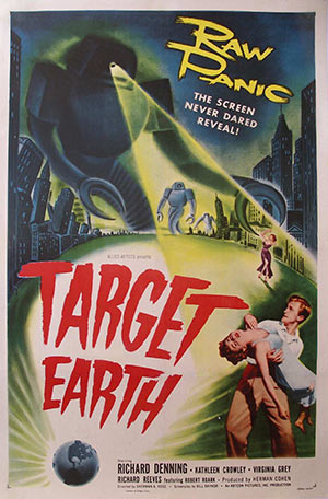 Target Earth: vintage movie poster