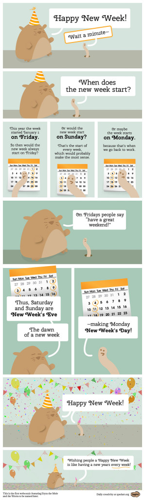 Happy New Week! webcomic