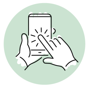 Digital finger touchscreen
