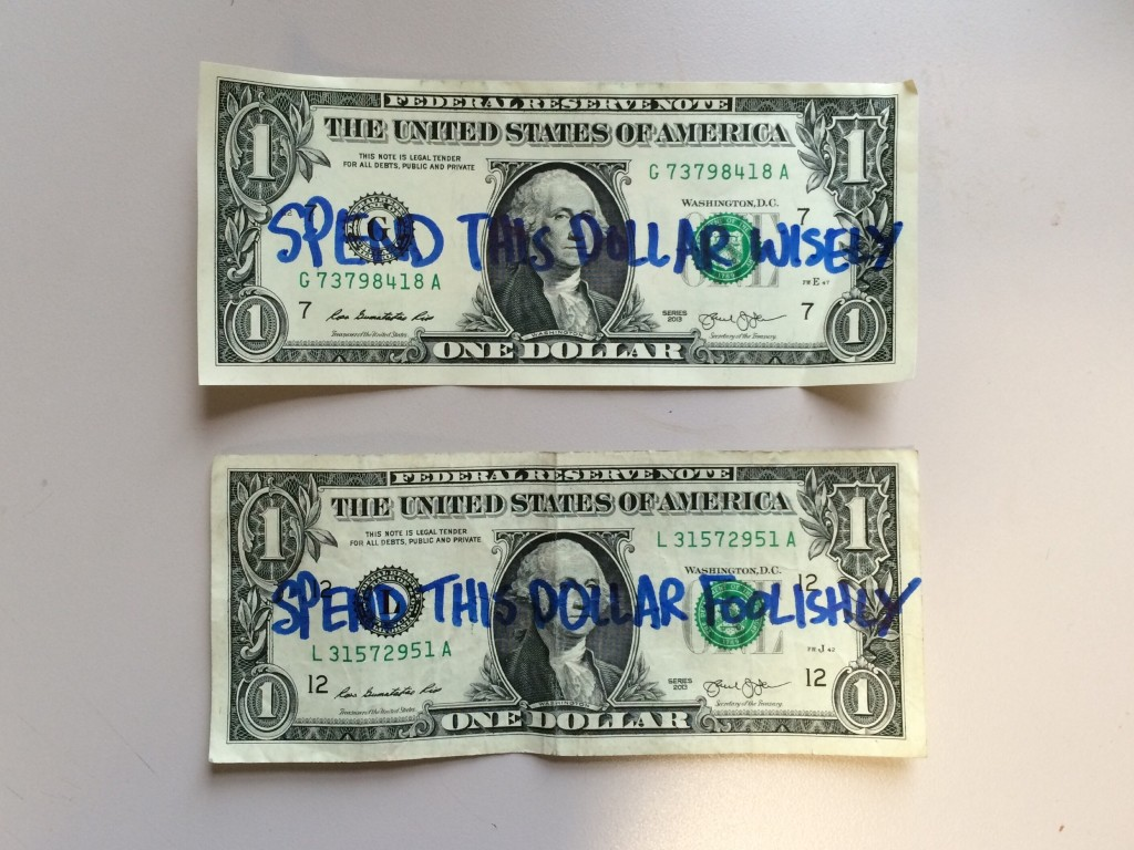 Spend this dollar wisely