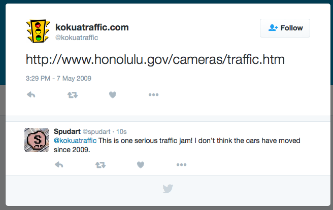traffic jam in Hawaii @kokuatraffic