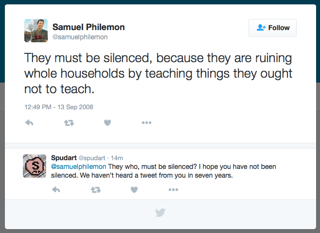 They must be silenced @samuelphilemon