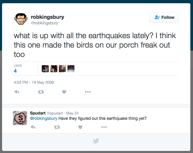 what is up with all the earthquakes lately? @robkingsbury