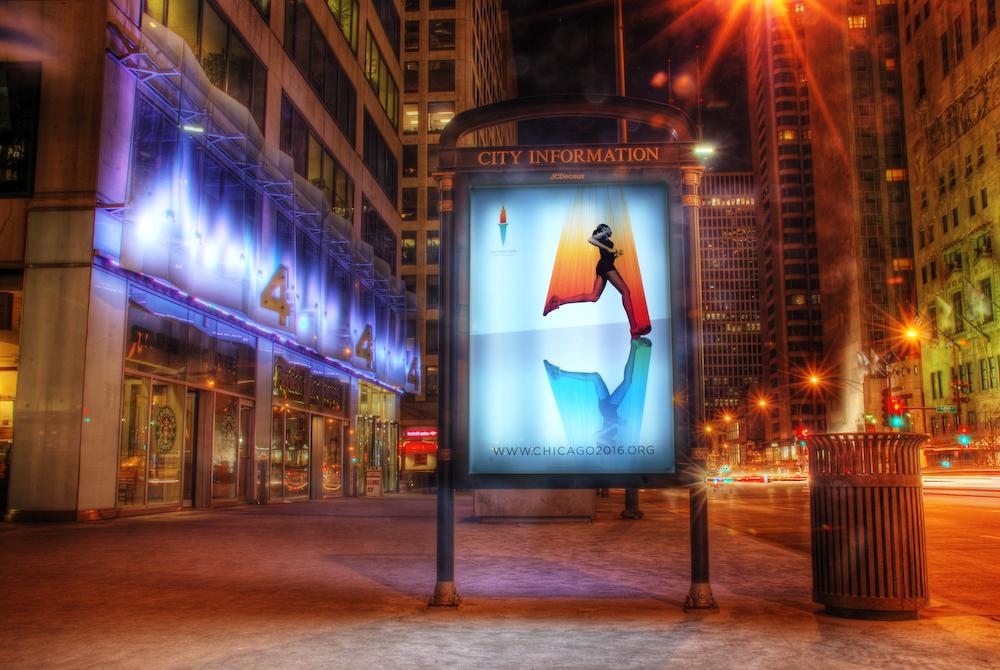 Chicago Olympics 2016 bid poster: running marathon
