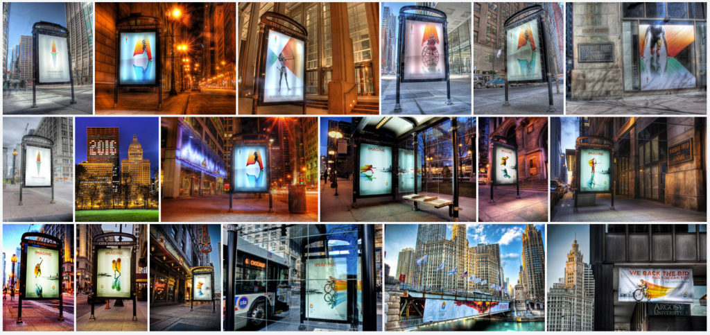 Chicago 2016 Olympic bid: collage of 18 photos
