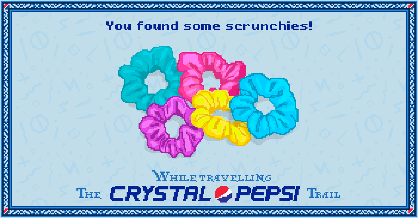 Scrunchies in the #CrystalPepsi Trail, #90s