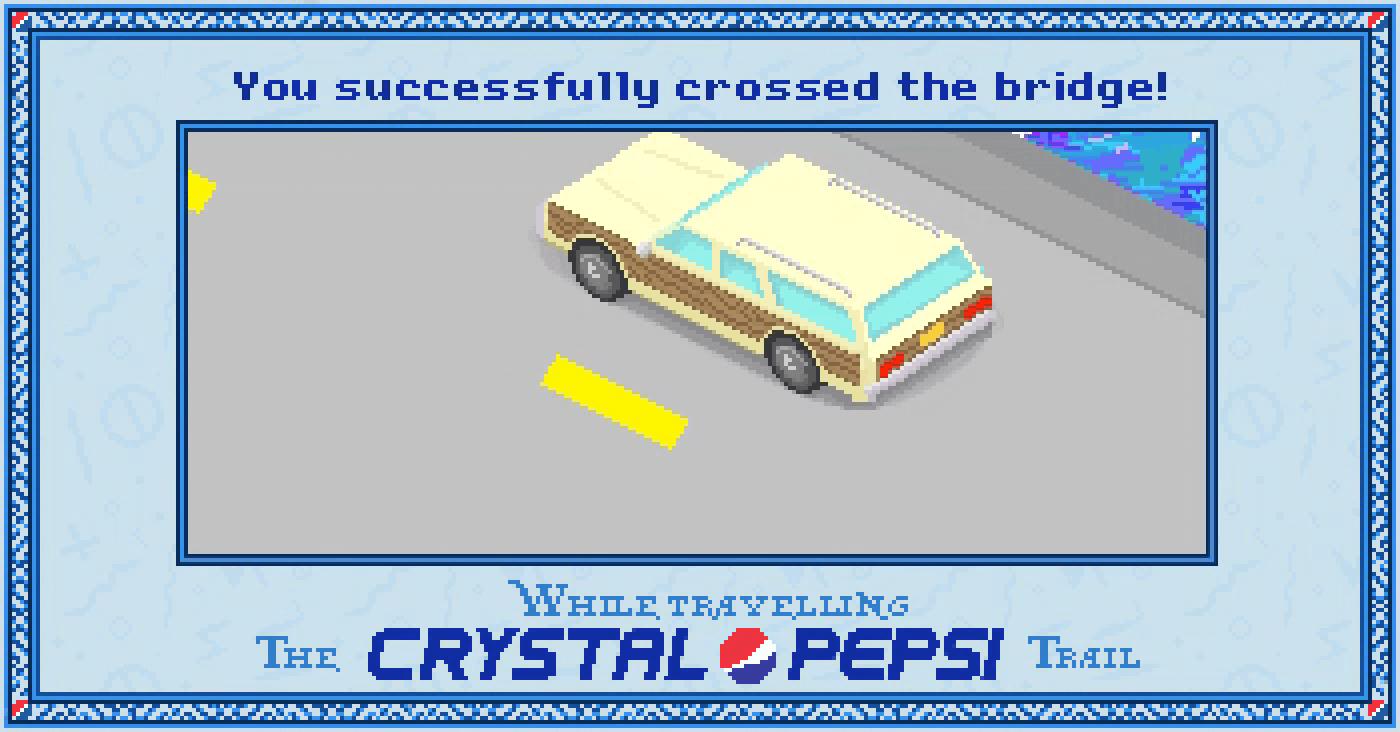 Bridge success in the #CrystalPepsi Trail, #90s