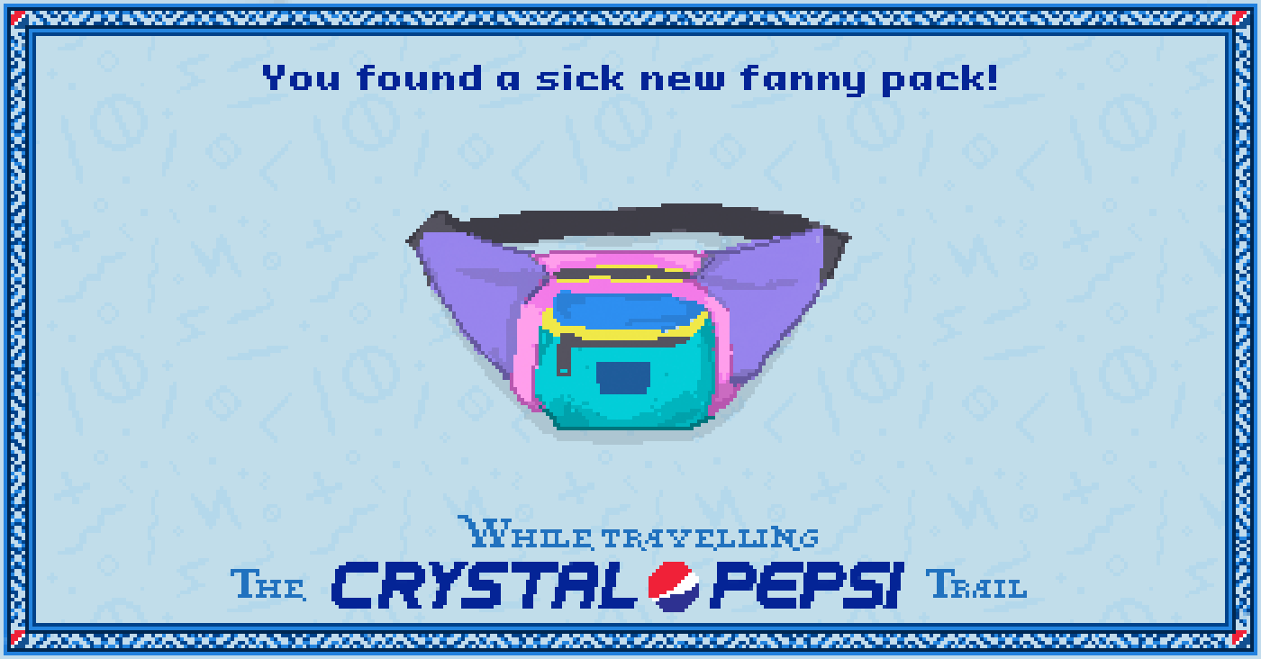 Fanny pack in the #CrystalPepsi Trail, #90s