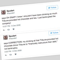 hot chocolate tweets