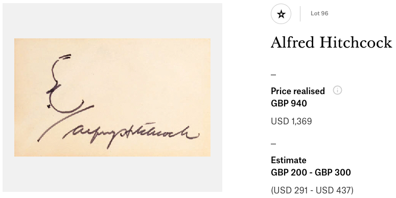 Christies: Alfred Hitchcock
