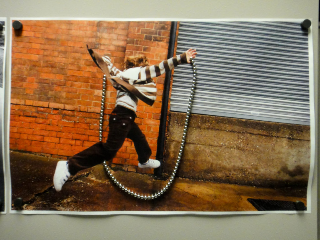 Puddle jumper with BuckyBall jumprope, photo in print by Jheppc