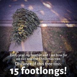 15 footlong toss