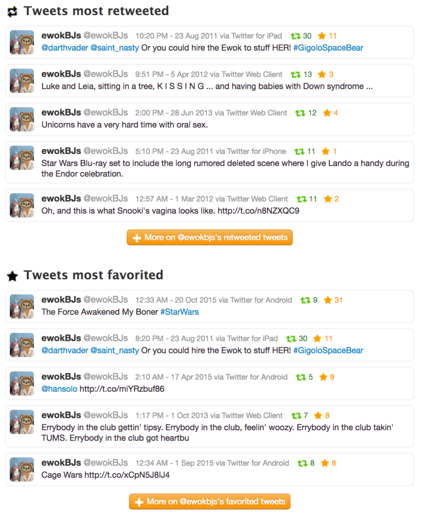 Best tweets from @ewokbjs