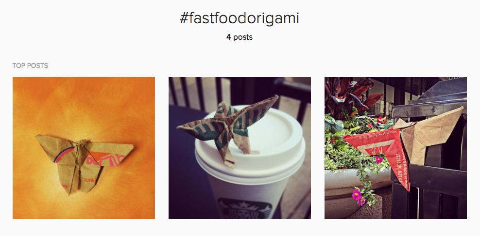 #fastfoodorigami hashtag instagram