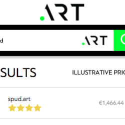 spud.art domain cost