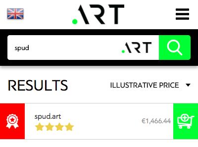 spud.art domain cost