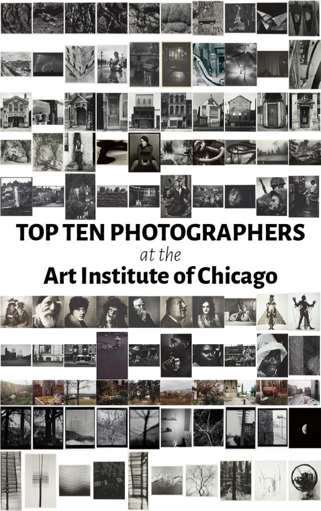 Top ten photographers at the Art Institute of Chicago