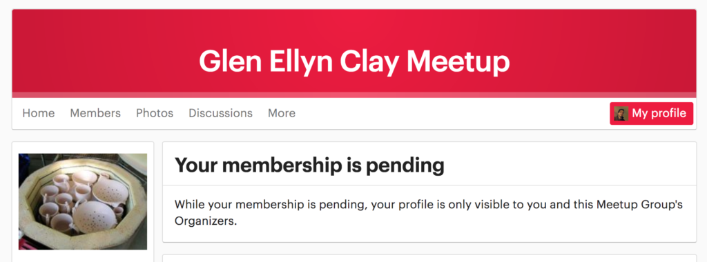 Glen Ellyn Clay Meetup membership pending