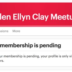 Glen Ellyn Clay Meetup membership pending