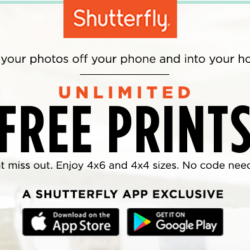 Shutterfly unlimited free prints deal