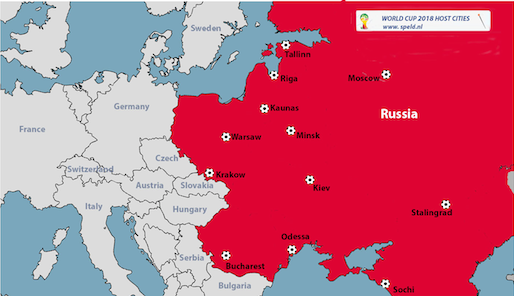 Russia locations for World Cup 2018