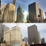 Before and after, Tribune Tower