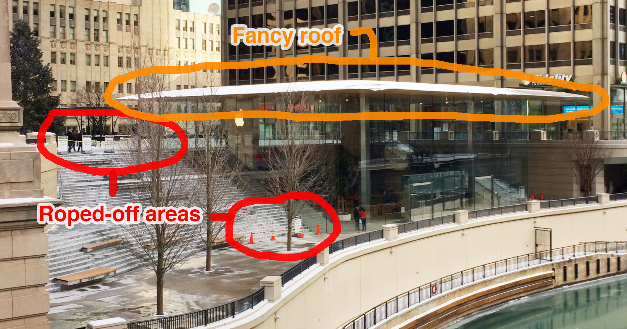 Chicago Apple store's snow, ice hazards call for 'fine-tuning'