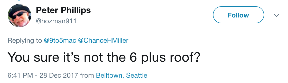 You sure it's not the 6 plus roof?