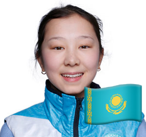 GANGNEUNG, SOUTH KOREA - FEBRUARY 17: Elizabet Tursynbaeva KAZ poses for a headshot during the Pyeongchang 2018 Winter Olympics at Gangneung Coastal Cluster on February 17, 2018 in Gangneung, South Korea. (Photo by IOC/Patrick Elmont)
