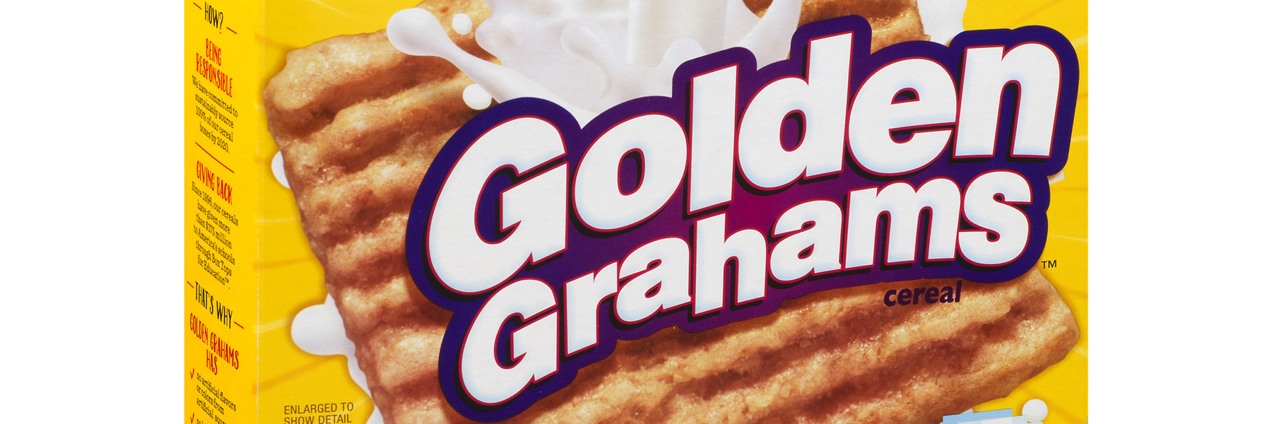 cereal box of Golden Grahams