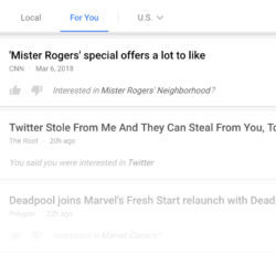 Mister Rogers suggested to me from Google News for you