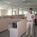 Chicago Cubs player Matt Murton photoshopped into a cubicle office