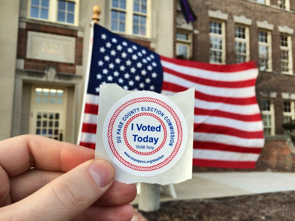 I voted today sticker (in Glen Ellyn of DuPage County)