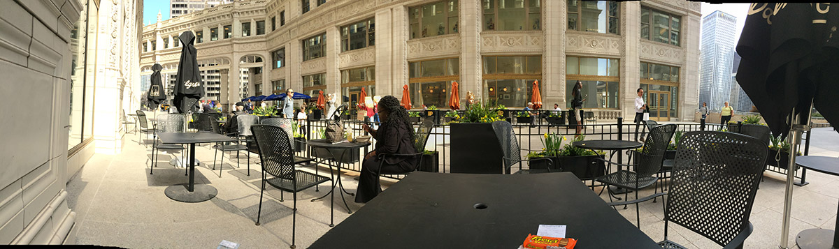 walgreenslistens.com survey - Wrigley Building Chicago - Horizontal Pano photo
