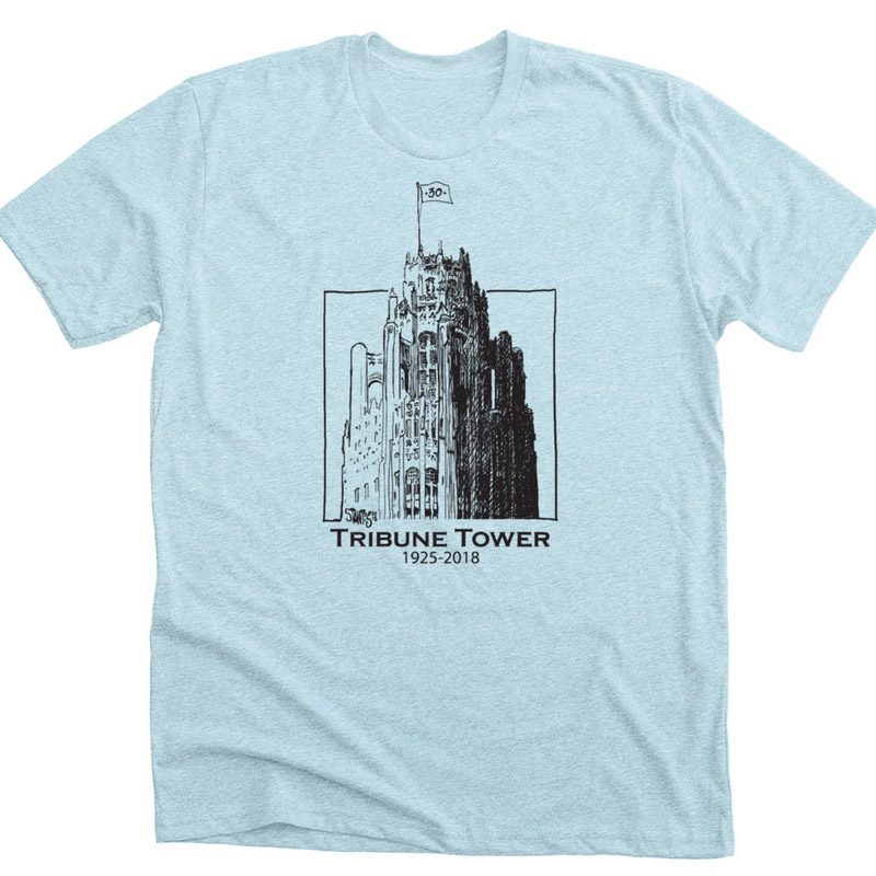 ice blue tshirt: Tribune Tower by Scott Stantis