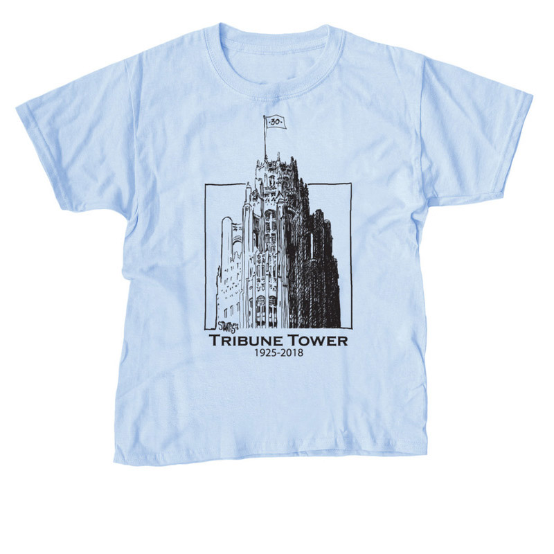 ice blue tshirt: Tribune Tower by Scott Stantis