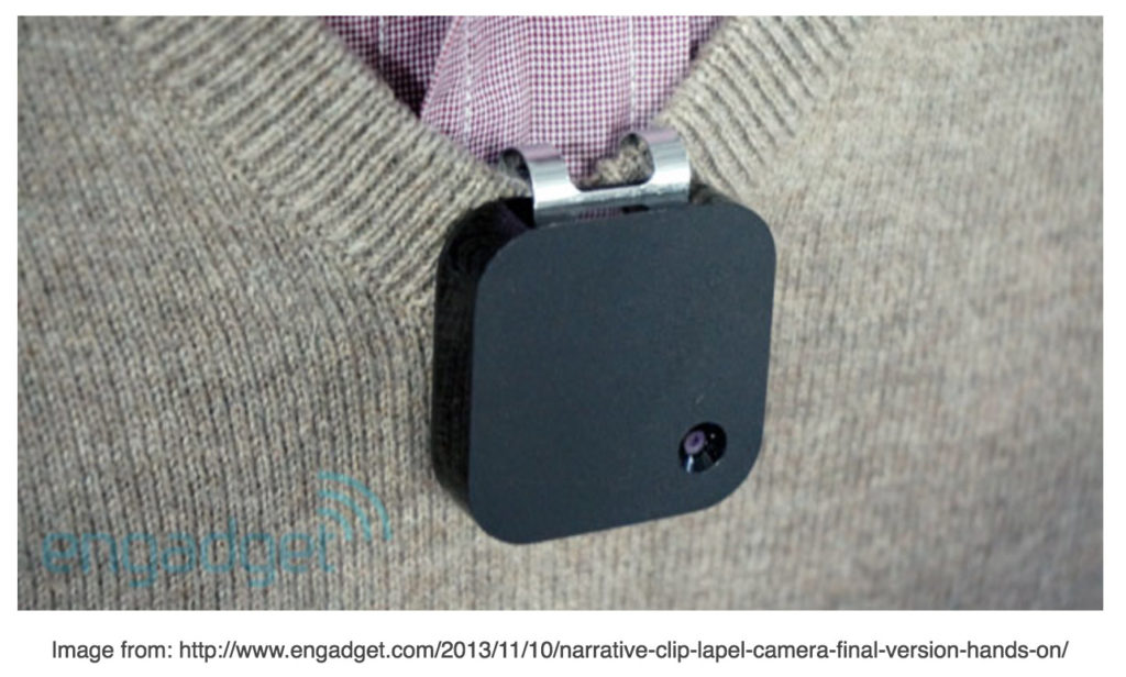 Narrative Clip on sweater