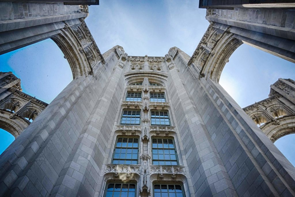 Tribune Tower flying buttresses
