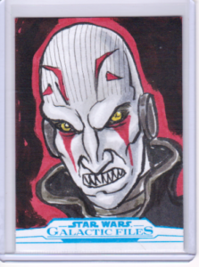 2018 TOPPS STAR WARS GALACTIC FILES SKETCH CARD BY GLENN SAVAGE 1-1 DARTH BANE