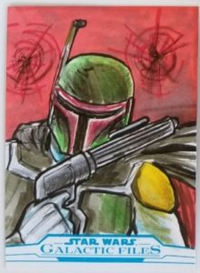 2018 Topps Star Wars Galactic Files- Sketch by Glenn Savage- Boba Fett- 1-1