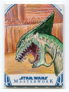 2018 Topps Star Wars Masterwork Artist Sketch Card Glenn Savage One of A Kind