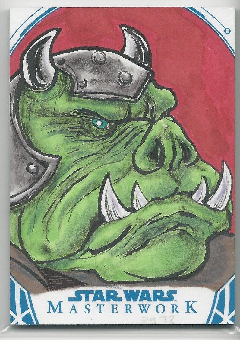 2018 Topps Star Wars Masterwork GAMORREAN GUARD 1-1 SKETCH BY GLENN SAVAGE