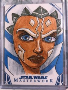 Ahsoka Tano 2018 Topps Star Wars Masterwork Sketch Card By Glenn Savage