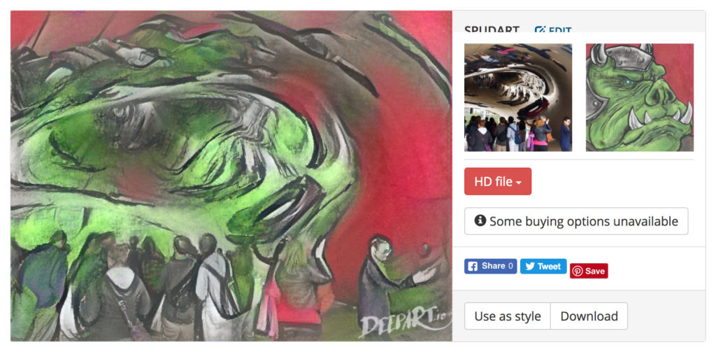 Chicago Bean in style of Glenn Savage Gamorrean Guard sketch card