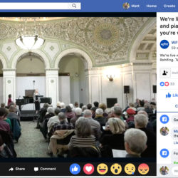 wfmt concert at chicago cultural center live stream on facebook
