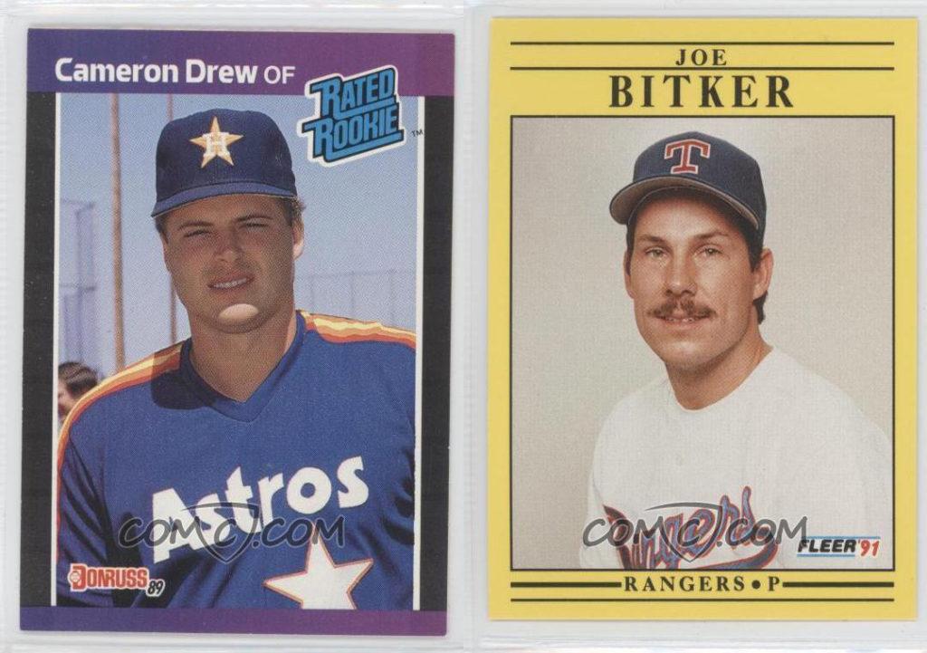 1989 Donruss Cameron Drew & 1991 Fleer Joe Bitker