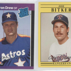 1989 Donruss Cameron Drew & 1991 Fleer Joe Bitker